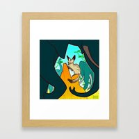 Bat-Eared Fox Framed Art Print