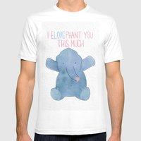 ELOVEphant Mens Fitted Tee White SMALL