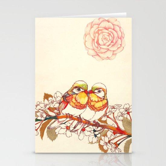 Lovebirds Stationery Card