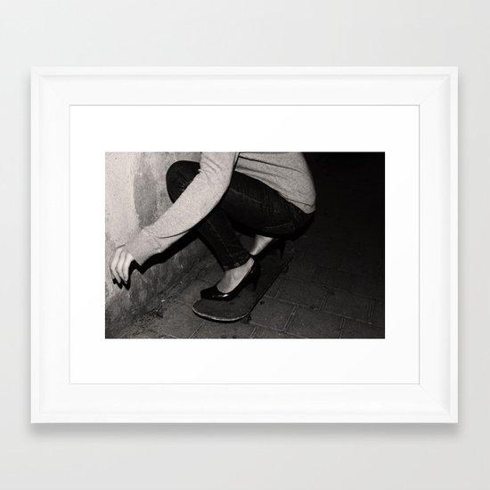skateboarding girl Framed Art Print