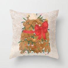 Merry Christmas from Gingerbread Men Throw Pillow