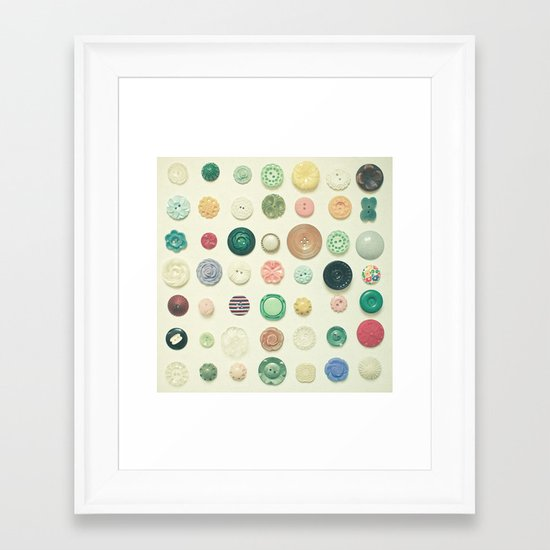 The Button Collection Framed Art Print