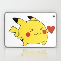 pikachu in love  Laptop & iPad Skin