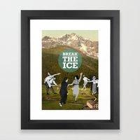 Break The Ice Framed Art Print