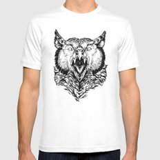 Beware the Owlbear SMALL White Mens Fitted Tee