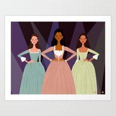 The Schuyler Sisters Art Print