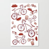 Bikes and Coffee Canvas Print