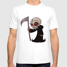 Little Reaper SMALL White Mens Fitted Tee