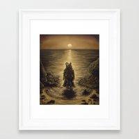 The Octopus Man Rises Framed Art Print