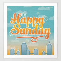 Happy Sunday Art Print