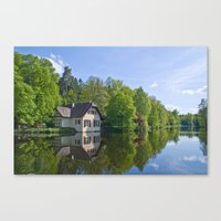 House at and in the water Canvas Print