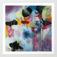Jellyfishes at the disco Art Print