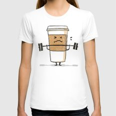Strong Coffee Womens Fitted Tee White SMALL