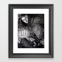 Alice In The Rabbit's Ho… Framed Art Print