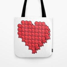 Heart Bichon Tote Bag