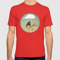 UNDER A CLOUD Mens Fitted Tee Red SMALL