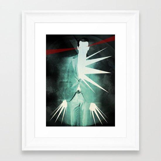 light suit Framed Art Print