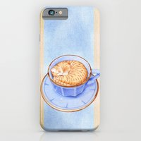 iPhone & iPod Case featuring Cat in Coffee by Floating Lemons