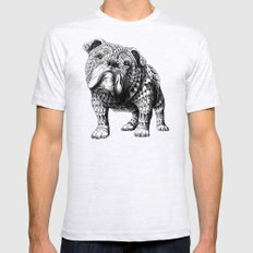 English Bulldog Mens Fitted Tee Ash Grey SMALL