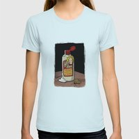 Lotion Womens Fitted Tee Light Blue SMALL