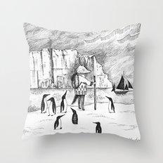 Antarctic explorer Throw Pillow