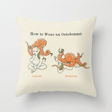 Octobonnet Throw Pillow
