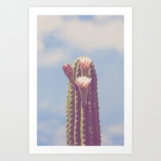 Happy Cactus :) Art Print