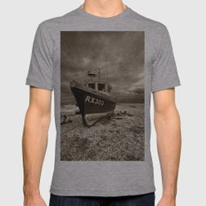 Dark Dungeness Mens Fitted Tee Athletic Grey SMALL