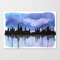 London Skyline 2 Blue Canvas Print