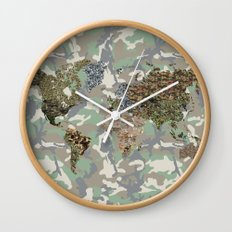 CAMO WORLD ATLAS MAP (CAMO) Wall Clock