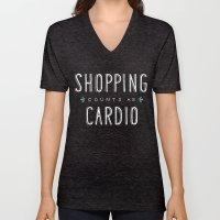 Shopping Counts As Cardio Unisex V-Neck