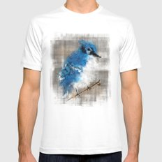 A Blue Jay Today Mens Fitted Tee White SMALL