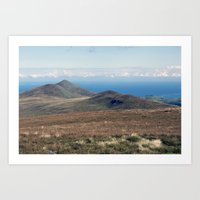 North Barrule and Maughold Head Art Print