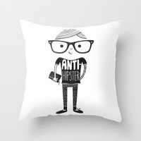 Anti-hipster Throw Pillow