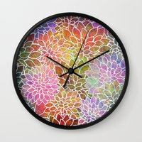 Floral Abstract 6 Wall Clock