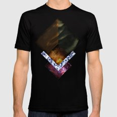 Nebula Silence Mens Fitted Tee SMALL Black