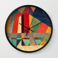 Wall Clock featuring The Road, The Mountain A… by Fernando Vieira