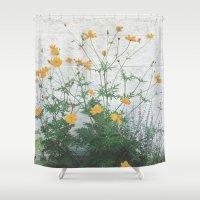 Yellow + Purple Shower Curtain