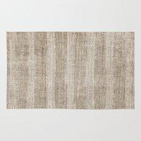 Striped burlap (Hessian series 3 of 3) Rug