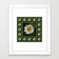 Daisy Collage Framed Art Print