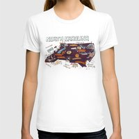 NORTH CAROLINA Womens Fitted Tee White SMALL