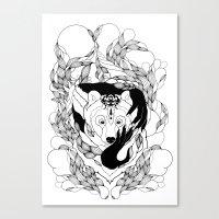 Glam-Bear Canvas Print