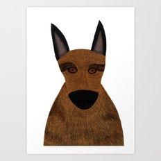 Dog - German Shepherd 2 Art Print