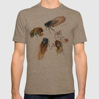 Summer Cicadas Mens Fitted Tee Tri-Coffee SMALL