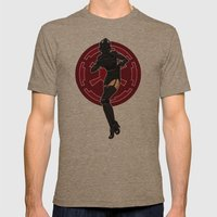 Star Wars TIE Fighter pinup Mens Fitted Tee Tri-Coffee SMALL