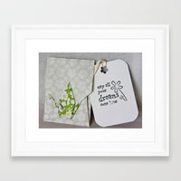 May All Your Dreams Come True - Origami Framed Art Print