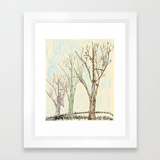 A Winters Sketch Framed Art Print