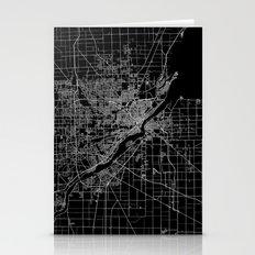 Toledo map ohio Stationery Cards