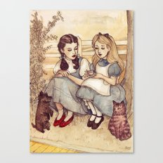 Dorothy And Alice Canvas Print