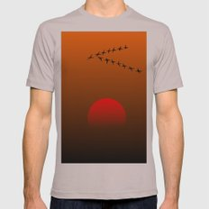 Migratory birds Mens Fitted Tee Cinder SMALL